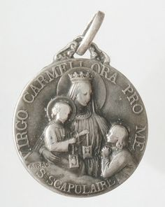 Our Lady of Carmel and the Holy Scapular Silver by CherishedSaints, $58.00