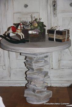 shabby book table