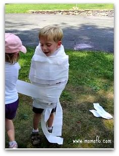 Olympics Party Mummy Wrap game