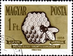 Bee postage stamp 3