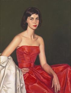 Painting of Dona Maria de los Angeles Tasara Bastos by Eduardo Malta