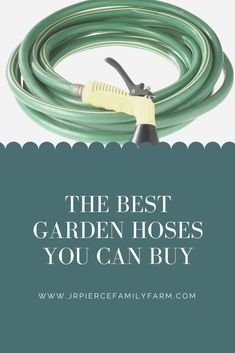 If you want to grow a green, healthy garden, you need to stock up on the right equipment. Here are some of the best gardening hoses money can buy. #buyinggardenhose #gardenhoses #jrpiercefamilyfarm #gardeninggear #gardeningtips #springgardeningtips Gardening Tips, Vegetable Gardening, Container Gardening, Garden Hose, Amazing Gardens, Farm Projects, Raised Bed, Good Things, Organic Farming