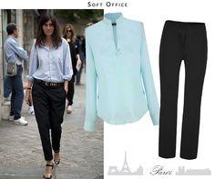 Na dnes štýl parížanky – kvalitný, moderný, nedbalý vzhľad, ako by si to tak práve chcela. Popravde, nie je ľahké to vedieť nosiť. Hlavne , keď chceš pôsobiť, že vieš, čo robíš. Inšpiruj sa modrou blúzkou a čiernymi nohavicami