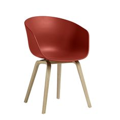 Hay Design About A Chair AAC22 Stuhl Warm Red Eiche klar lackiert