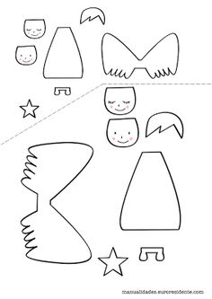 FREE printable angel template / Manualidades: Angelitos navideños