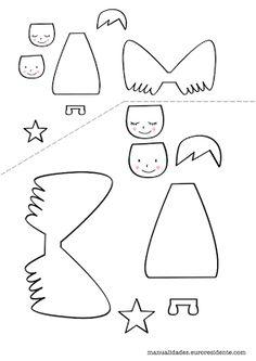 FREE printable angel template / Manualidades: Angelitos navideños