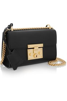 Gucci | Linea C small leather shoulder bag | NET-A-PORTER.COM