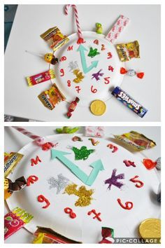 The 9 most beautiful ideas for New Year's Eve with a child! DIY New Year Countdown Clock! - Silvester mit Kind - Crafts world Christmas Crafts For Kids, Diy Crafts For Kids, Easter Crafts, Crafts To Sell, Christmas Decorations, Christmas Ornaments, Holiday Decor, New Years Countdown, Countdown Clock