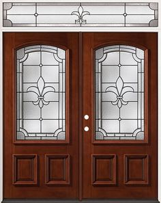 Beautiful Fleur De Lis Entry Doors