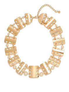 our gold pearl fritz collar!