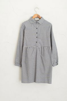 Olive Clothing Check Shirt Dress, Navy 55 GBP