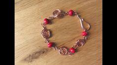 Diy sieraden: roos armband - YouTube Wire Wrapping, Diy Jewelry, Beaded Bracelets, Charmed, Youtube, Fashion, Cute, Bangle Bracelets, Moda