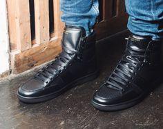 SNEAKERLOVE #saintlaurent #sneakers #hightops #hightopsneakers #black