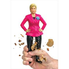 Hillary Clinton Nutcracker Stainless-Steel Thighs
