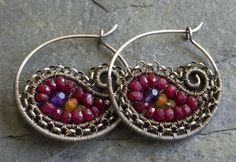 Ruby Paisley Hoops by Joslin Jewels, via Flickr