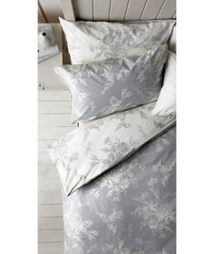 Buy Collection Lottie Grey and White Bedding Set - Superking at Argos.co.uk - Your Online Shop for Duvet cover sets.