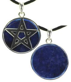 Lapis Pentagram Charm