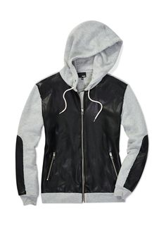 Wilfred Free Dree Hoodie with faux #leather panels, now available at Aritzia.com.