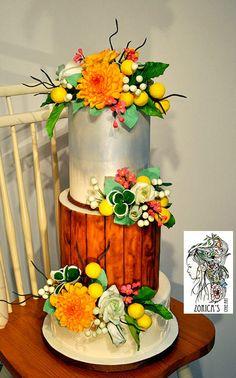 Country style wedding cake - Cake by Hajnalka Mayor