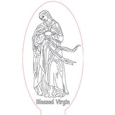 Blessed Virgin night light vector file for CNC - 3bee-studio