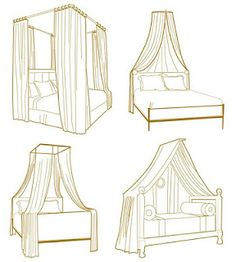 DIY Ideas for Getting the Look of a Canopy Bed...Without Buying a New Bed