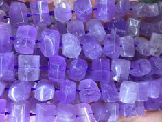 15 inches of Amethyst smooth Tube Cylinder beads in 8-10mm wide X 12-14mm length