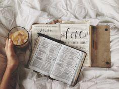 Journaling, bible study, and coffee or tea! Give Me Jesus, My Jesus, Bibel Journal, God Is Good, Jesus Loves, Cool Stuff, Me Time, Verses, Moleskine