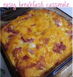 easy breakfast casserole. make it the night before your week starts and have a pre-made breakfast for the week!