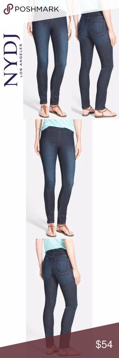 """New - NYDJ Poppy Legging Jeans ~ 220512 NYDJ Poppy Womens Legging Jeans - Hollywood - Size 4  You will look and feel fantastic in these stylish pull on legging jeans from NYDJ.Made in USA. 77% Cotton / 21% Polyester / 2% Elasthane  New with tags..  MEASUREMENTS Waist:  14"""" flat across Rise:  9"""" Inseam: 27.5""""  All items I sell are 100% authentic! Buy with Confidence. NYDJ Jeans Skinny"""