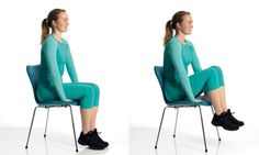 The best ab-work out. Sit on a chair, where your feet dont touch the ground - hands tucked under your thighs, lean bodyweight forward(like youre getting up) - lift legs slow and controlable about Repeat for or more fitness-and-work-out flat-abs Yoga Fitness, Fitness Tips, Fitness Motivation, Health Fitness, Abs Workout Routines, At Home Workouts, Tummy Workout, Ultimate Ab Workout, Chair Exercises