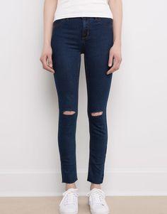 Pull&Bear - femme - vêtements - jeans - jegging basic taille normale - bleu - 09684335-I2016