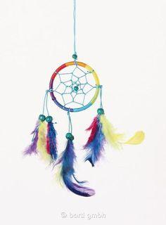 Dreamcatcher Rainbow 6 cm Traumfänger Windspiele und Wandbehänge 110951