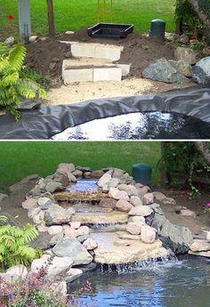 Garten Wasserfall diy
