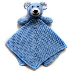 Teddy Bear Security Blanket - PDF Crochet Pattern - Instant Download
