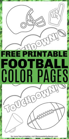 football kids These free printable football coloring pages are great for fall football parties. Kids need something to do while the adults watch football! Football Party Games, Free Football, Watch Football, Football Crafts Kids, Football Games For Kids, Kids Football Parties, Tailgate Parties, Alabama Football, American Football