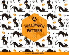 Modelo del gato Halloween transparente