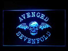 J649B Avenged Sevenfold Bar Pub Sport Game Champion Star Ball Light Sign #New