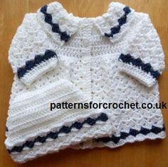 Free baby crochet pattern Coat & Hat Set USA