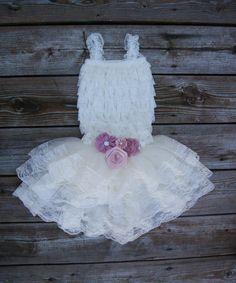 Toddler lace dress.  Ivory lace flower girl dress. by KadeesKloset