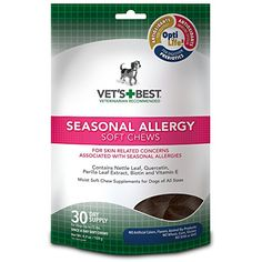 Vets Best Seasonal Allergy Soft Chews Dog Supplements 30 Day Supply *** Read more  at the image link.