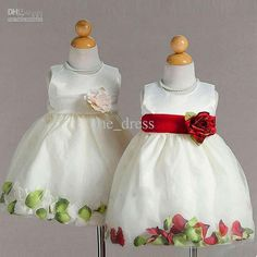 Wholesale 2012 Retro Jewel Party folwer Dresses ball gown Fold fashion dress flower girl Anke length, Free shipping, $20.16-31.36/Piece | DHgate
