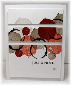 just a note panels card by Becky