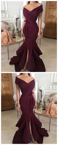 Sexy V Neck Evening Dress, Burgundy Prom Dress, Mermaid Evening Dresses Mermaid Evening Dresses, Evening Gowns, Cheap Dresses, Prom Dresses, Dress Prom, Dress Long, Graduation Dresses, Wedding Dresses, Bridesmaid Dress