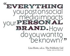 THINK! Social is your personal brand