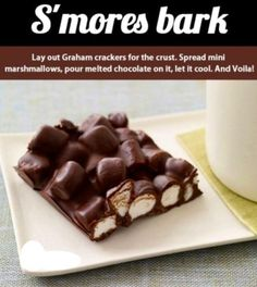 S'mores Bark... say whaaaat.... easy  delicious!!!!