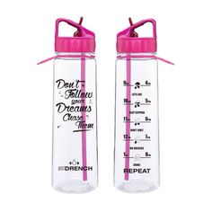 Pink justdrench motivational water bottle | JustDrench