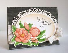 Magnolias ; Spellbinders Floral ovals