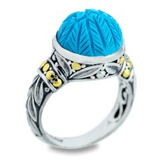 The bright turquoise on this sterling silver ring reminds us of the dazzling Bali seas. #BaliBeauty #Jewelry