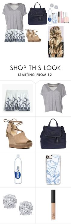 """Navy blue"" by tcolasante on Polyvore featuring J.Crew, Acne Studios, MICHAEL Michael Kors, Tory Burch, Casetify, Effy Jewelry and NARS Cosmetics"