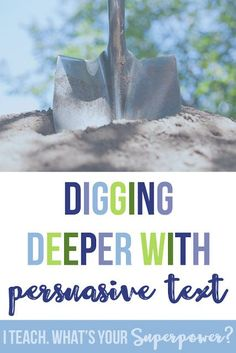 Digging deeper with